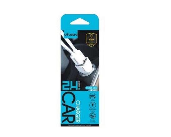 Charger Saver Mobil Vivan 2 Output - CC02B Mini USB Car Charger - STHRG