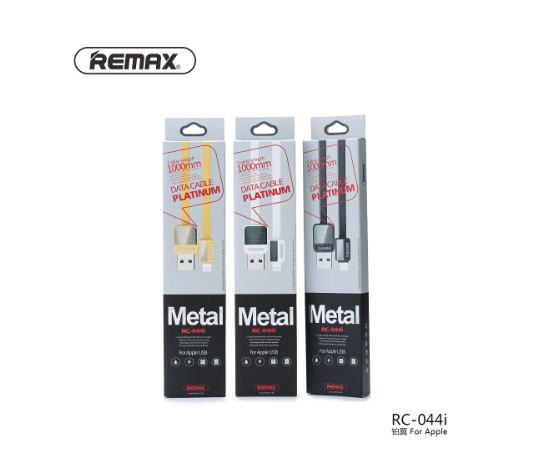 Kabel Remax Metal Platinum 1M Iphone - RC-044i - Model Gepeng - Charger / Data