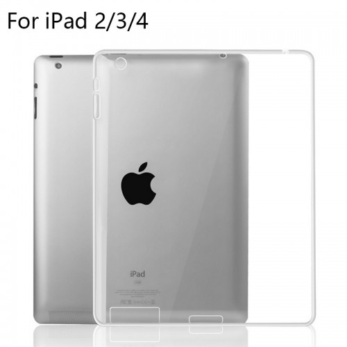 SoftShell / Silikon Ultra thin Ipad 2/3/4  - Back cover / Luxury Warna Bening
