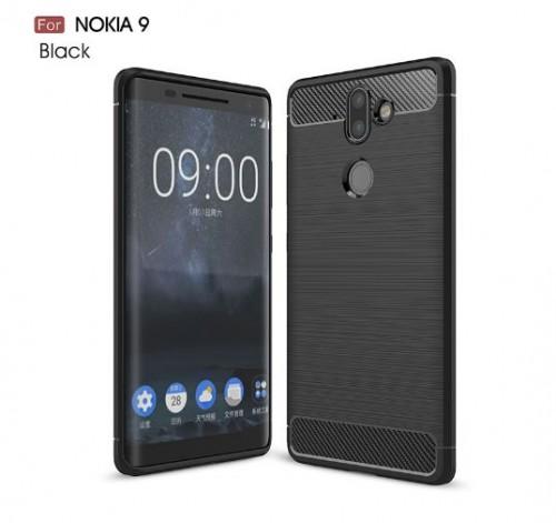 Nokia 9 - Rugged FS / Delkin - Carbon Fibre Case Slim Rugged Armor ShockProof / Rubber