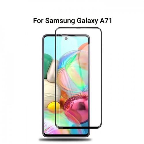 Tempered Glass Full Lem Samsung Galaxy A71 / 5D /10D Full Body / Anti Gores Kaca Bening