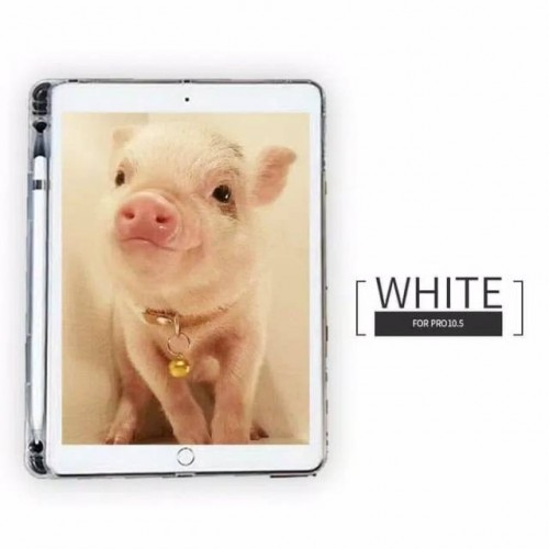 Silikon Ipad Pro 10.5 Inch 2017 Ada Tempat Pen / Stylus Case Cover Bening Tablet