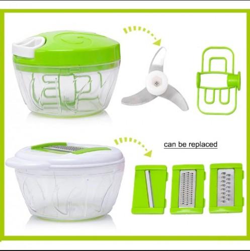 Alat Potong Sayur Buah Multi Fungsi - Penggiling Bawang, Cincang Daging, Parut dan Pengocok Telur