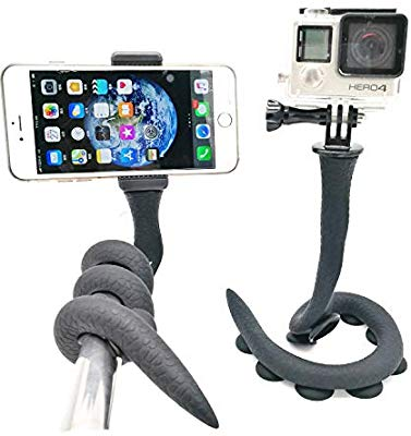 Flexible Smartphone Selfie Stick / Snake Phone Pod / Holder Camera Model Ular Mount - with Ball Head