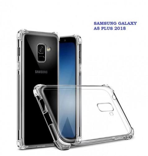 Anti Crack Fuze Samsung A8  Plus2018  - Bening -  ShockProff / Anti Shock Case