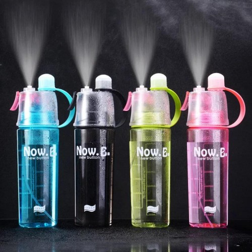 Botol Air Minum Spray Water 600 ml Anti Bocor