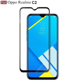 Tempered Glass Oppo Realme C2 / A1K / Full Body / Full Lem Anti Gores Kaca