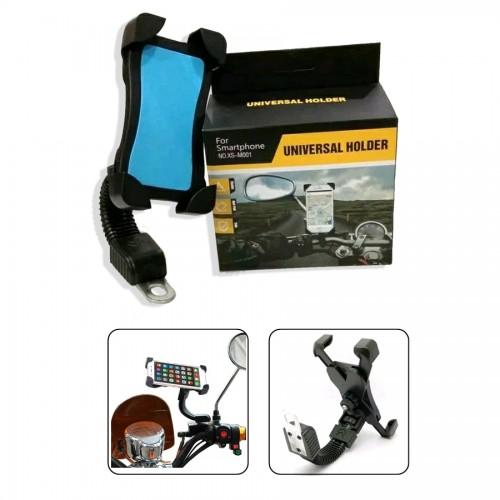 HSM-001 Holder Motor SmartPhone dan Handphone Universal Kuat dan Stabil Pasang di Stang Motor / Sepeda XS-M001 STRDY