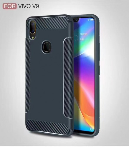 Vivo V9 - Carbon Case Black Matte Slim Cover Elegan Design Ver.5