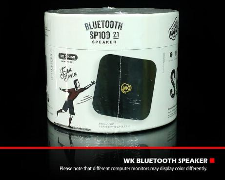 WK Design Bluetooth Speaker SP100 Black Original Murah