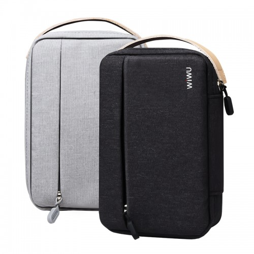 WIWU Travel Storage Case Bag Organizer Digital Gadge Earphone Storage Box Zipper Handbag 8.2 Inch