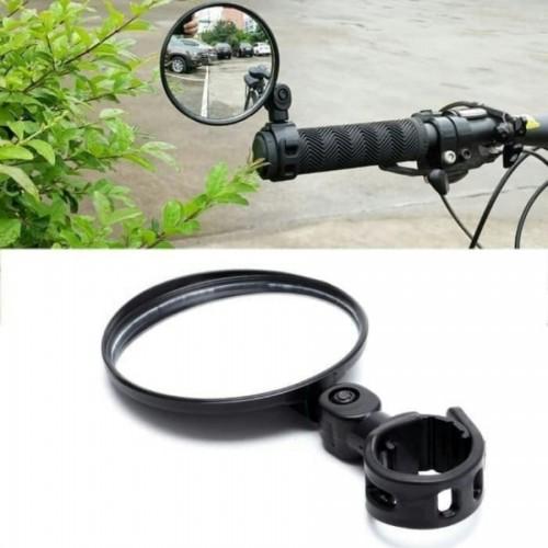 ASP-009 Universal Kaca Spion Sepeda Cembung 360 Rotate Bening Anti Pecah Bisa juga di Motor Bisa Adjustable