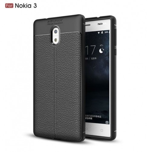 Nokia 3 - Case Kulit Auto Focus - Softshell / Silikon / Cover / Softcase