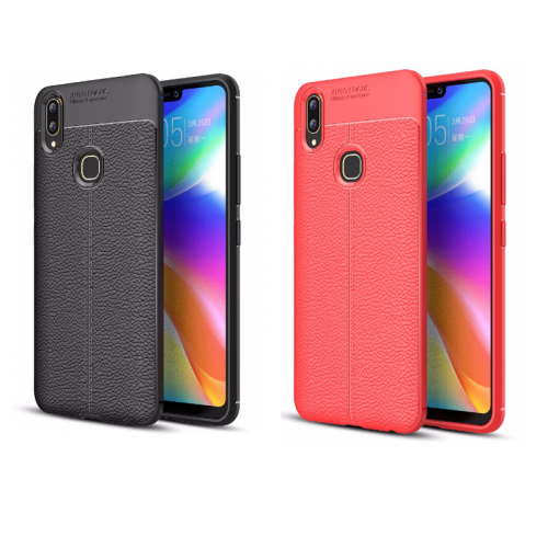 Vivo V9 - Auto Focus Case Model Kulit - Softshell / Silikon / Cover / Softcase