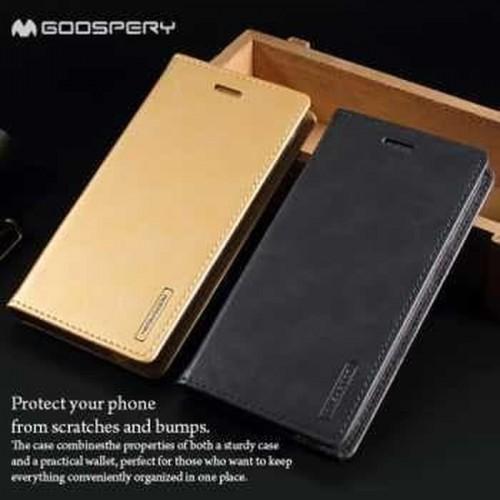 Sarung Mercury Kulit Xiaomi Mi Max 2 - Blue Moon Flip / Leather Case / Dompet - STRPT