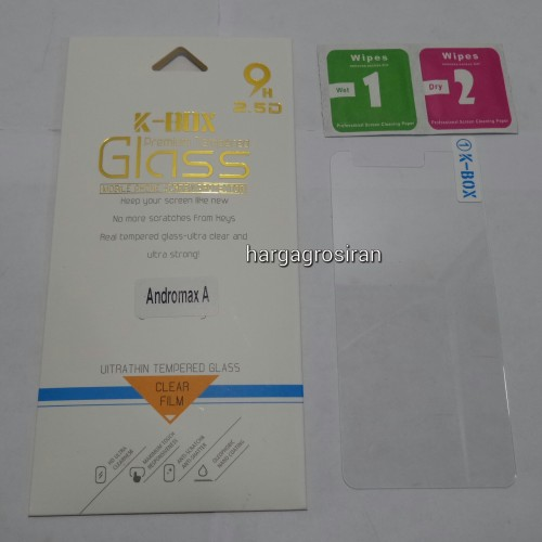 Anti Gores Kaca / Tempered Glass Andromax A - STNEW