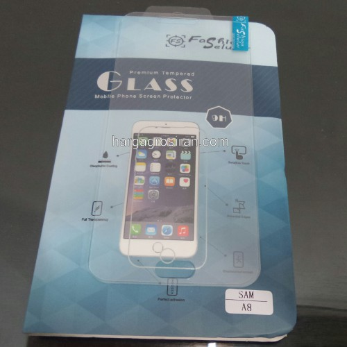Anti Gores Kaca / Tempered Glass Samsung Galaxy A8