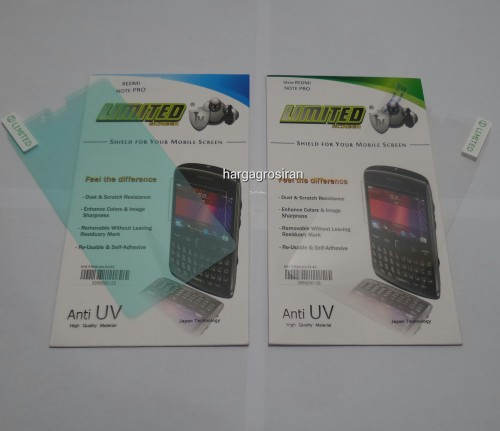 Anti Gores Limited Glare / Clear Xiaomi Note Pro
