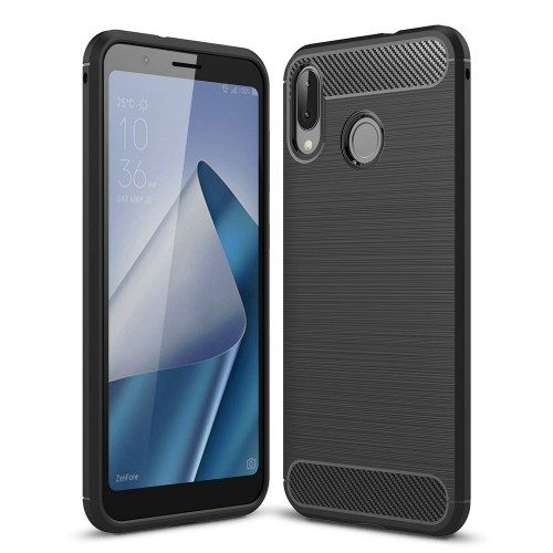 Asus Zenfone Pro M1 / ZB555KL - Rugged FS - Carbon Fibre Case Slim Rugged Armor ShockProof / Rubber