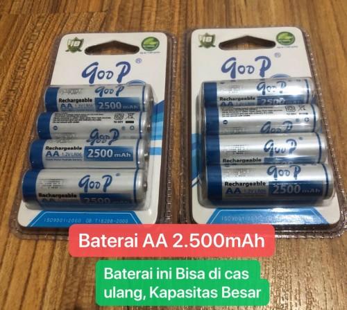 BBT-001 Batu Baterai AA 2.500mAh Rechargeable Batteries Ni-MH1.2V Isi 4 PCS Baterai Khusus Buat Remote