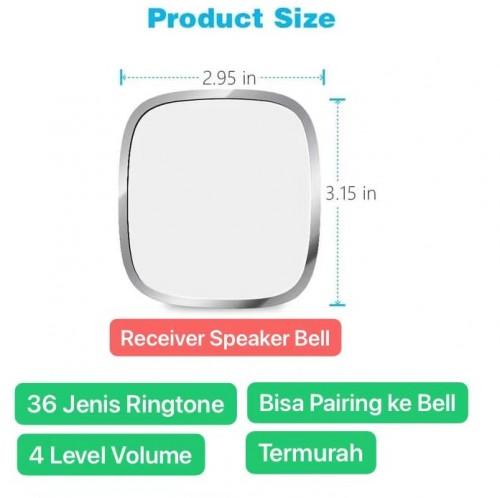 BEL-004 Jual Receiver Lonceng Extension Bel Pintu Rumah / Door Bell House LED Light 36 Nada / Ringtones & 4 Level Volume