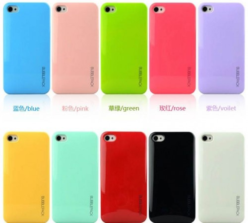 Hardcase Back Cover Candy Super Thin + Simpan Kartu For Iphone 4 / 4s / 5/5s