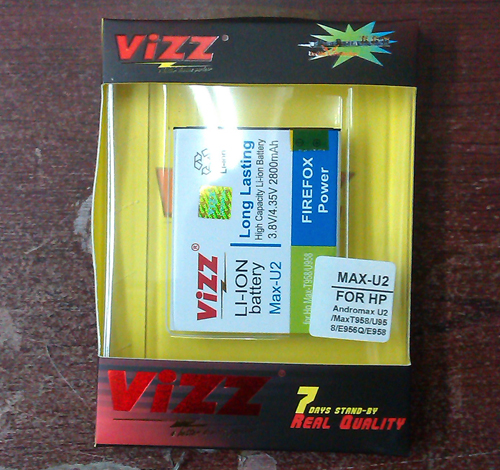 Vizz AndroMax U2 - Baterai Double Power