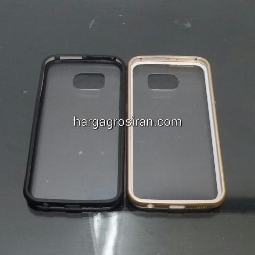 Bumper Aluminium Case + Belakang Transparan Samsung S6