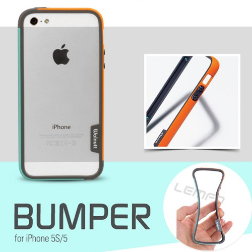 Stok Kosong - Bumper Trio Karet Walnutt For Iphone 5 / Iphone 5s