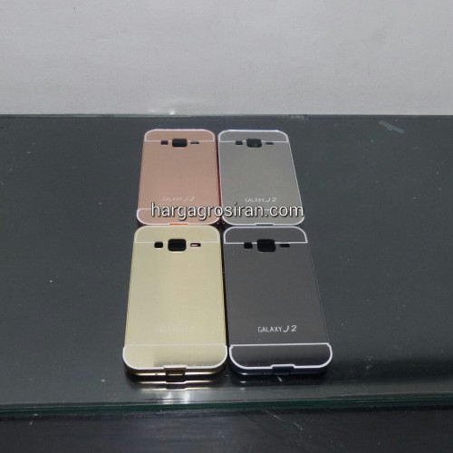 Bumper Mirror Samsung Galaxy J2 - Bumper Kaca Plus Tutup Cover Belakang