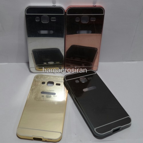 Bumper Mirror Samsung Galaxy J3 - Bumper Kaca Plus Tutup Cover Belakang
