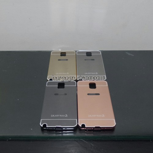 Bumper Mirror Samsung Galaxy Note 3 - Bumper Kaca Plus Tutup Cover Belakang