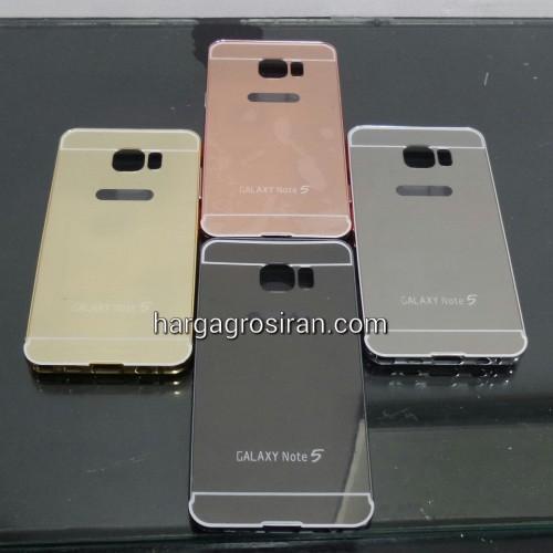 Bumper Mirror Samsung Galaxy Note 5 - Bumper Kaca Plus Tutup Cover Belakang