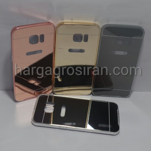 Bumper Mirror Samsung Galaxy S7 Edge - Bumper Kaca Plus Tutup Cover Belakang