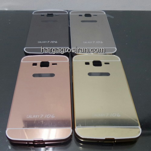 Bumper Mirror Samsung Grand 2 / G7106 - Bumper Kaca Plus Tutup Cover Belakang