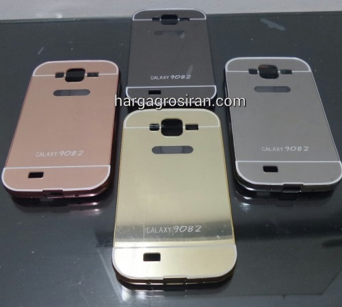 Bumper Mirror Samsung Grand Duos / Grand Neo / i9082 - Bumper Kaca Plus Tutup Cover Belakang