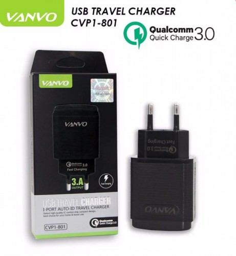 VANVO CVP1-801 Charger QUALCOMM Quick Charge Auto ID 30 Batok Charger