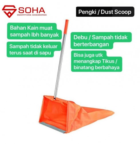 PCK-05 Dust Scoop Pengki Sampah / Sekop / Serokan Sampah / Alat Kebersihan Cocok Dinas Kebersihan / Rumah Tangga / Bersih Pekarangan Rumah Alat Bantu