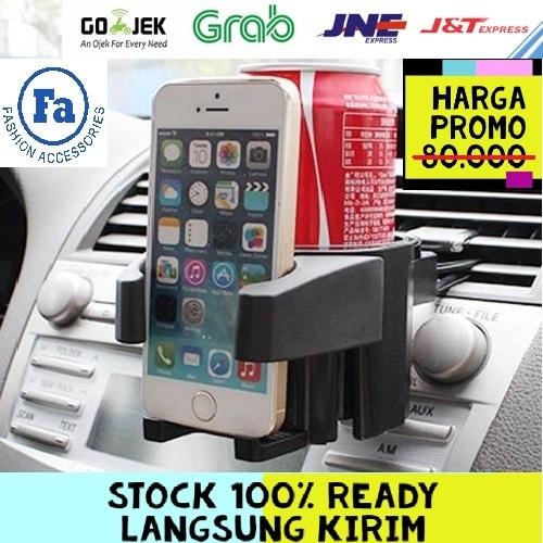 CHA-009 Car Drink Holder -Tempat Minuman Mobil - Multifunction Car Air Vent Drink Holder STRDY