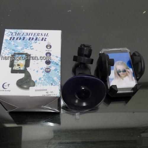 Car Holder / Holder Mobil Handphone dan GPS - 2 In 1 - di AC dan Kaca