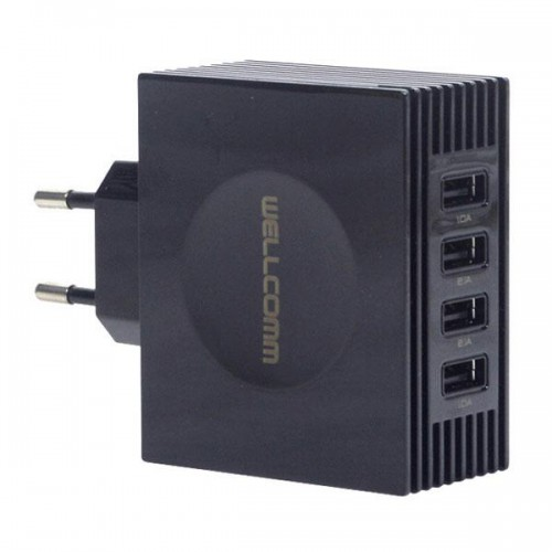 TC Charger / Batok Adaptor USB 4 Output - 5 Ampere / WellComm Multi Port Charger