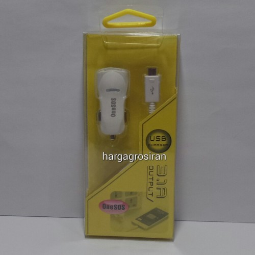 Charger Saver Mobil Onesos 2 Output - OS-02 / OS02 USB Car Charger