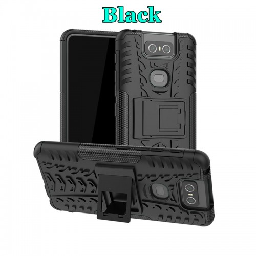 Dazzle Asus Zenfone 6 ZS630KL - Rugged Armor Stand / Hybrid / Dazzle Cover / Shockproof