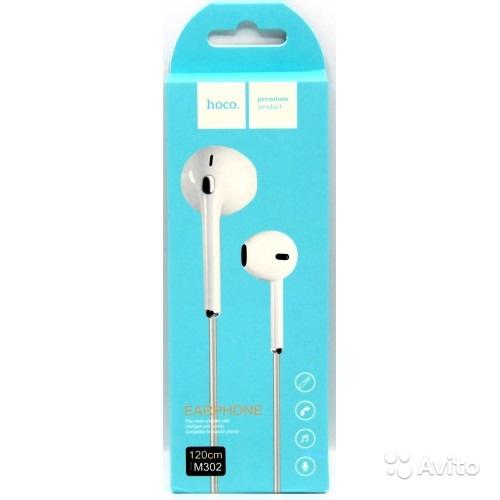 Earphone M302 Hoco Headset Premium Music Jernih dan Bass Mic Telepon Handfree Kualitas Bagus