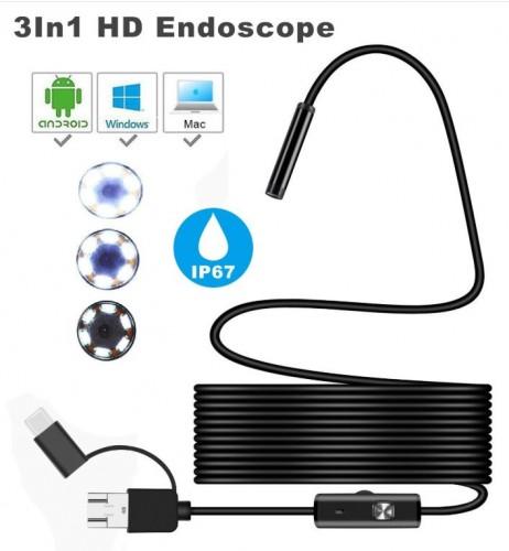 Y101 - Endoscope Camera Ear Cleaning HD Waterproof - Endoskopi Kamera Mini Pembersih Telinga