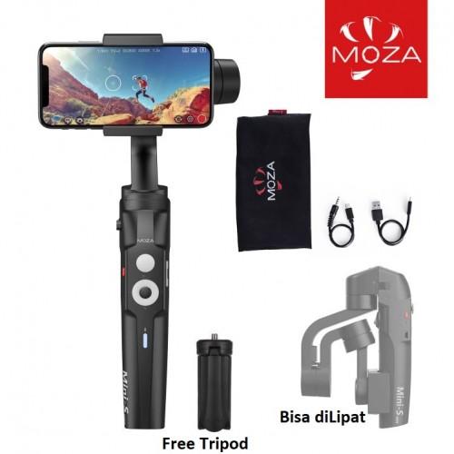 GML-002 Moza Mini-S Essential Handheld Gimbal Stabilizer Foldable Pocket Bisa DiLipat Gampang dibawa