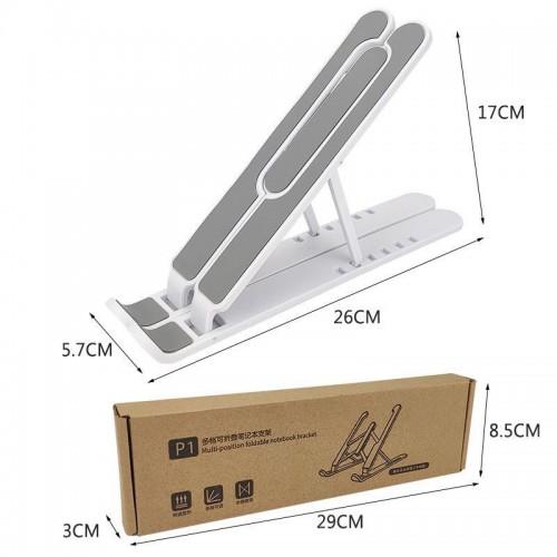 HDR-010 Plastik Stand Holder Portable Bracket Foldable Adjustable Multifungsi For Tablet Laptop Macbook Notebook IPAD Mac dudukan lipat