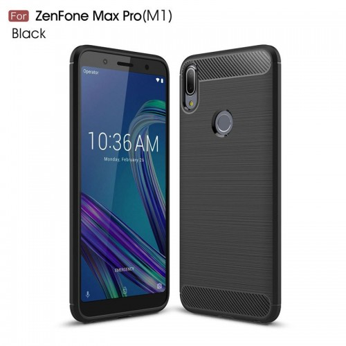 Asus Zenfone Max Pro M1 / ZB601KL - Rugged FS - Carbon Fibre Case Slim Rugged Armor ShockProof