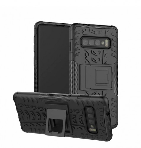 Samsung Galaxy s10 Plus - Rugged Armor Stand / Hybrid / Dazzle Cover / Shockproof