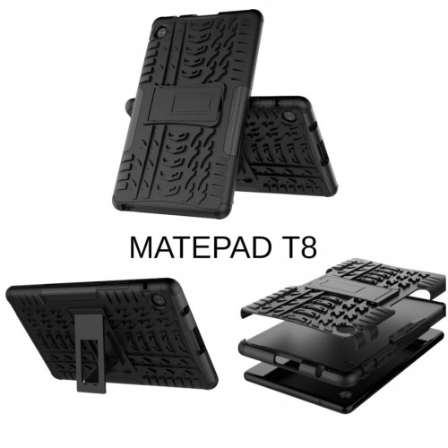 Huawei Tab Matepad T8 8 Inch Rugged Case Defender Stand Armor / Hybrid / Dazzle Cover / Shockproof Case Aman Tahan Banting